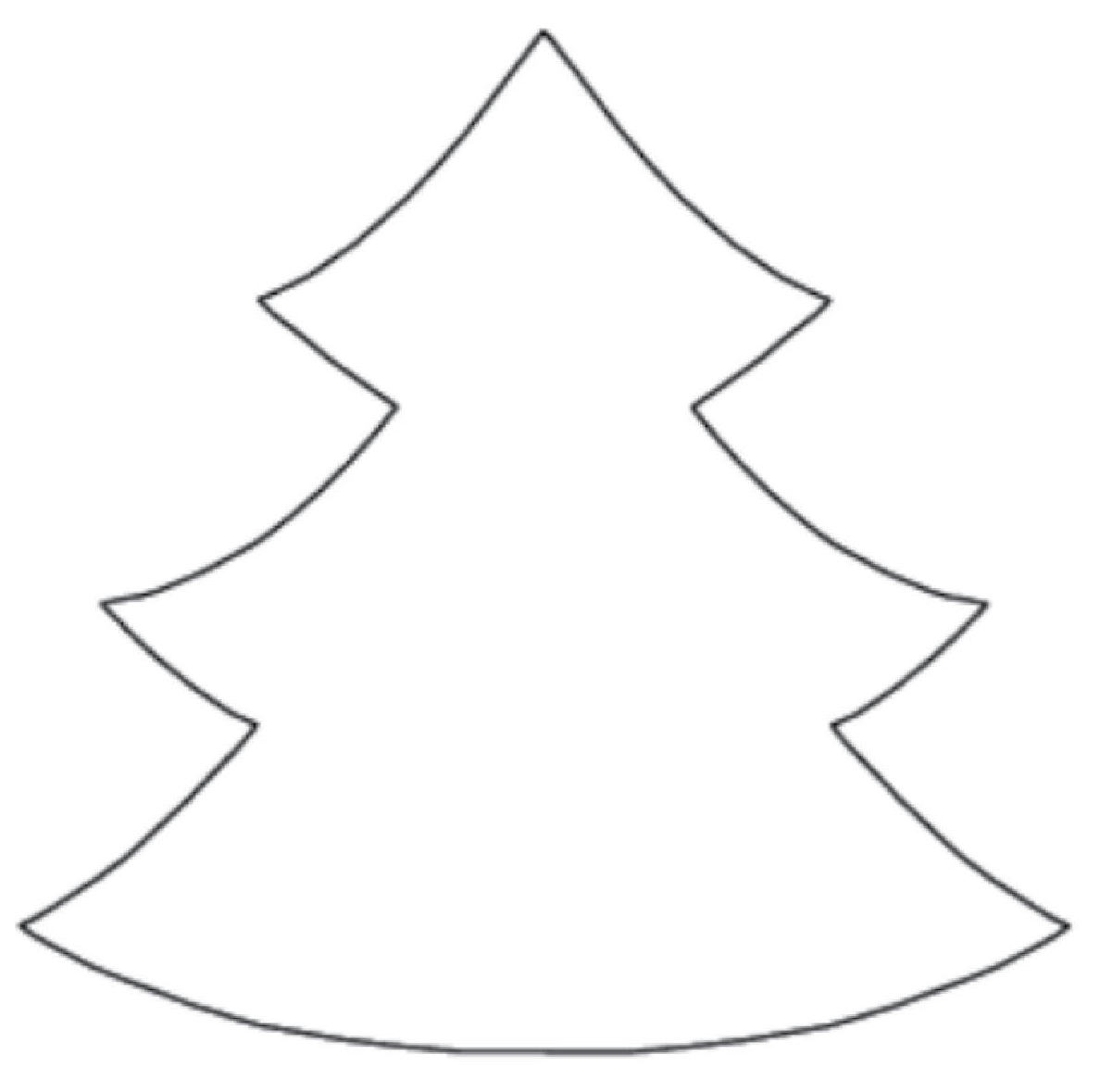 christmas tree outline � post 1 cevector free vector