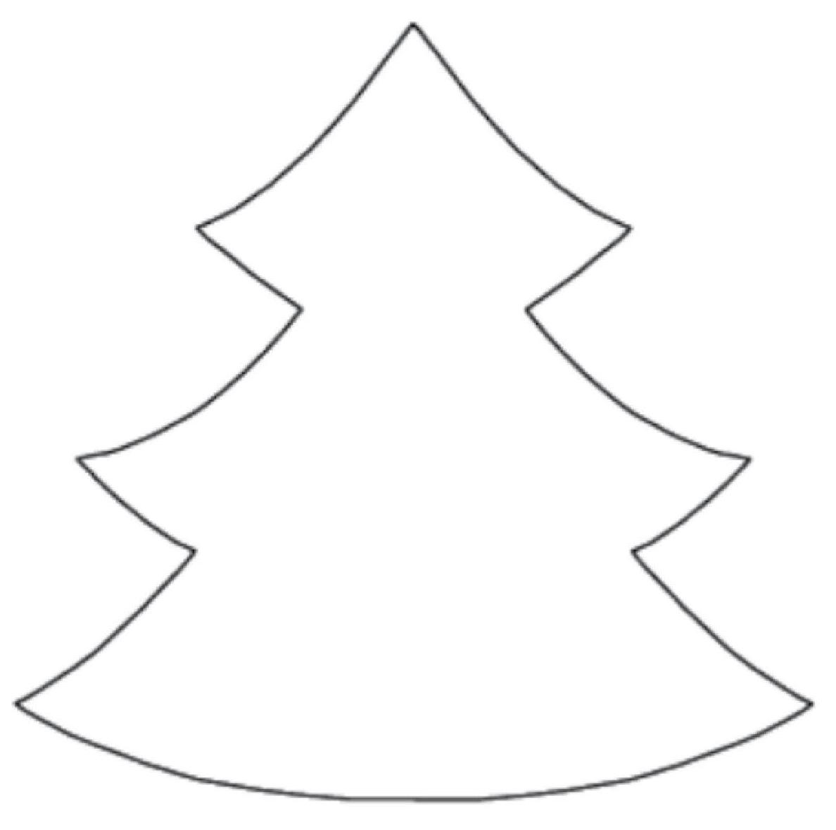 Christmas Tree Clip Art Outline - ClipArt Best