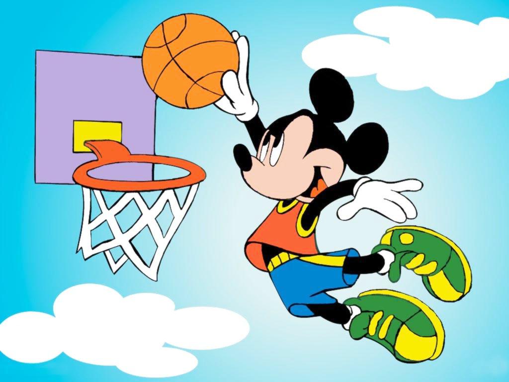sports cartoon mickey mouse backgrounds ppt typing basket mat dance kidz type ball cartoons clipart intelligence minnie plays templates designs