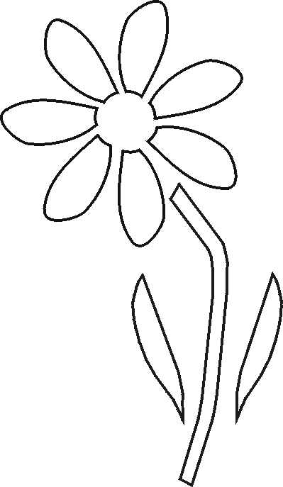 Flower cut out templates clipart best for Printable stencils for canvas painting