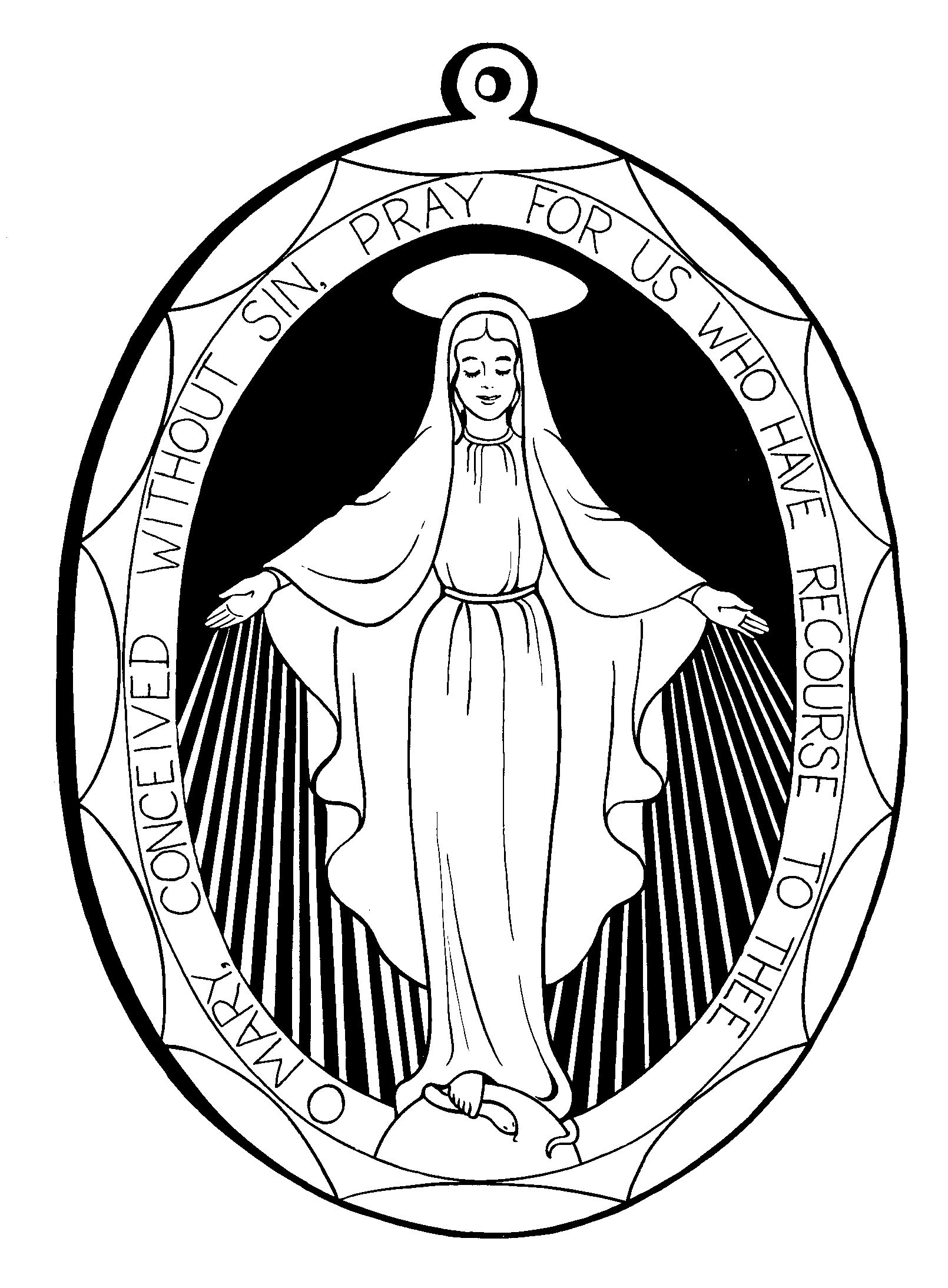 coloring pages catholic virgin mary - photo#27