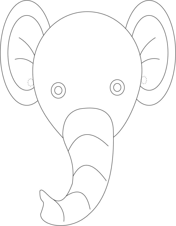 Hippo Face Template