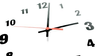 Clock face numbers tick away time against white background. 1080p ...