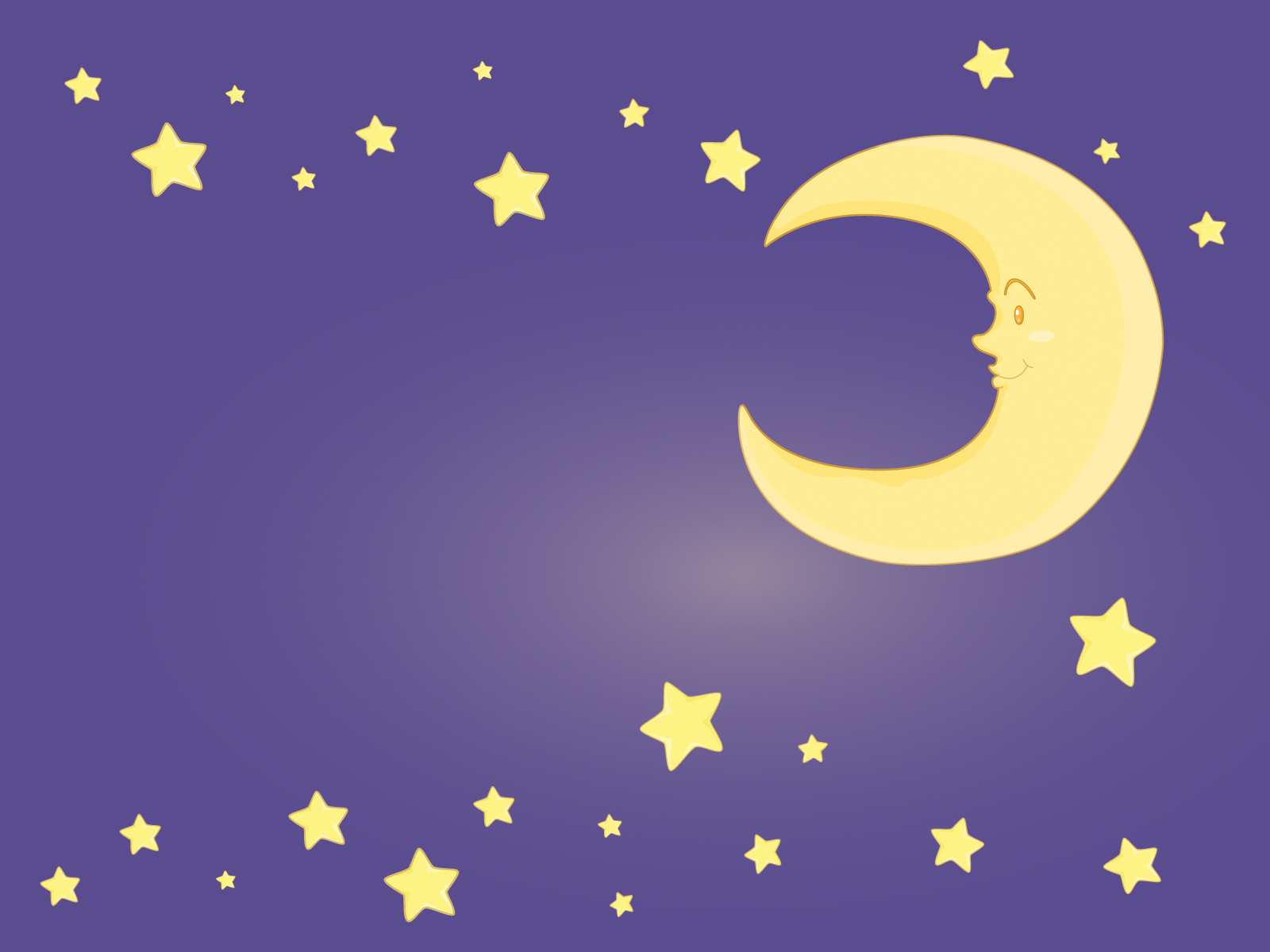 free clip art moon and stars - photo #14