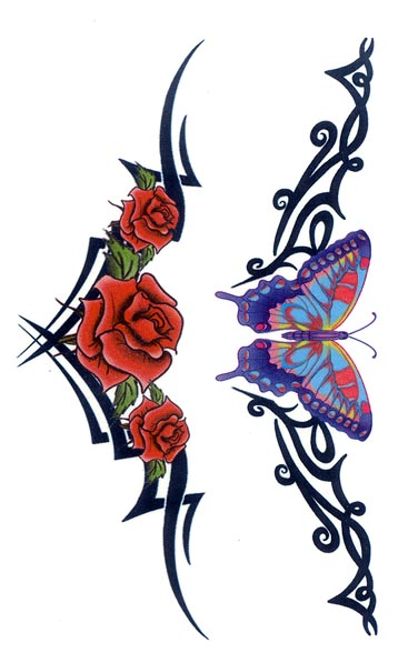 of temporary tattoos tribal butterfly rose armband free download clipart best clipart best. Black Bedroom Furniture Sets. Home Design Ideas