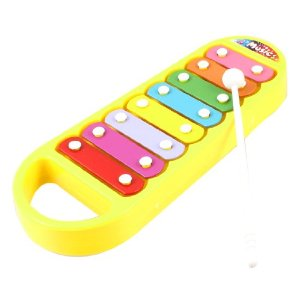 Como Multicolor Metal Plate Yellow Plastic Xylophone ... - ClipArt ...