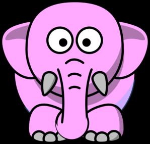 Free Pink Elephant Clip Art