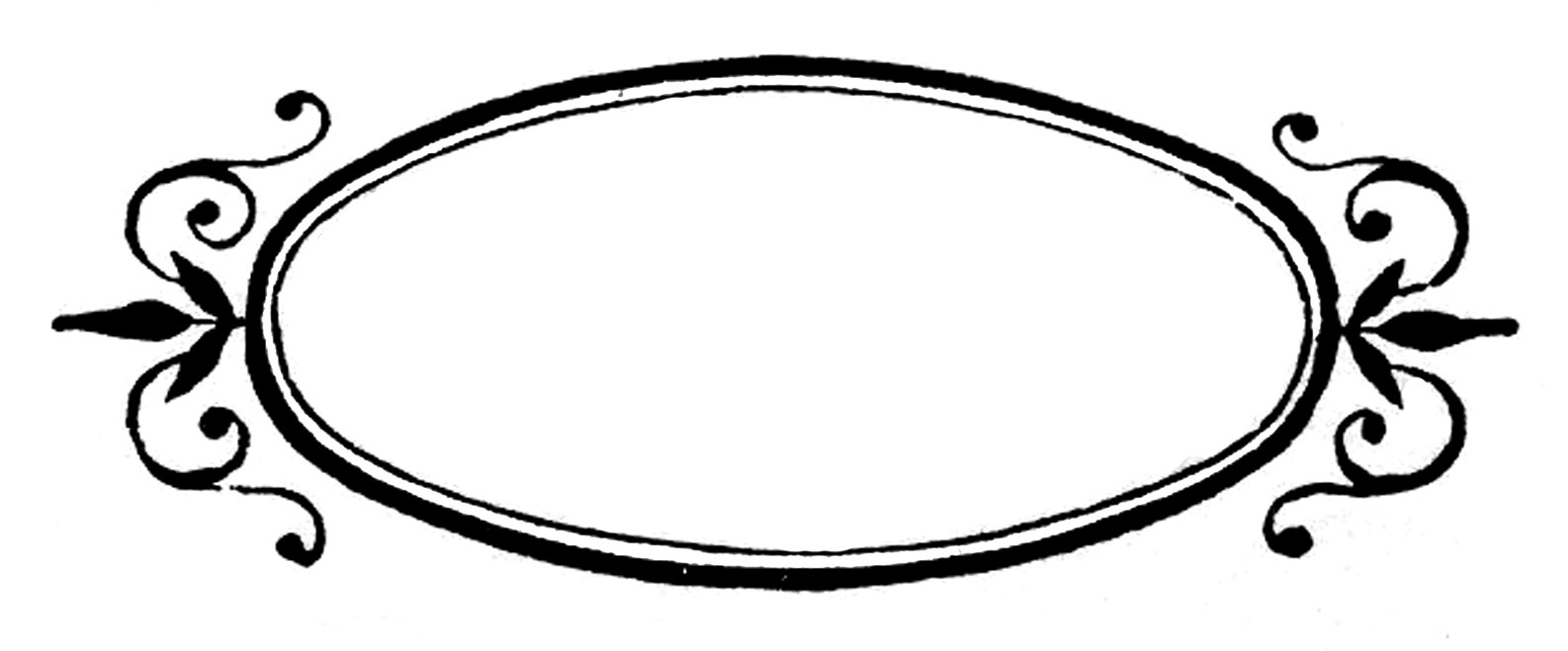 Oval Frame Clip Art - ClipArt Best