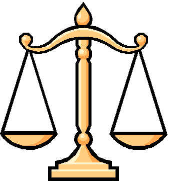 Legal scales clipart