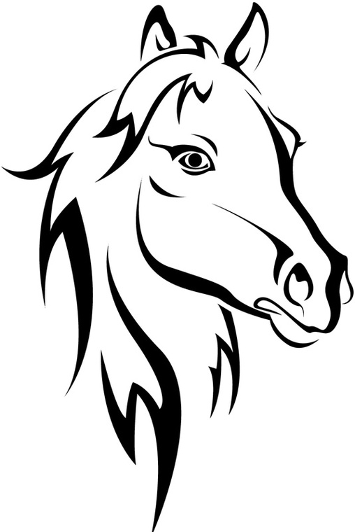 free horse head coloring pages - photo#27