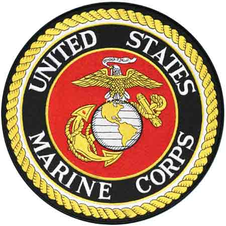 Large Circle United States Marine Corps Emblem Patch