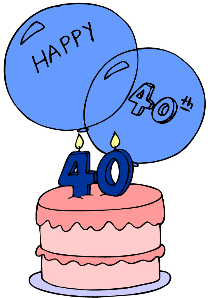 clipart 40th anniversary - photo #28