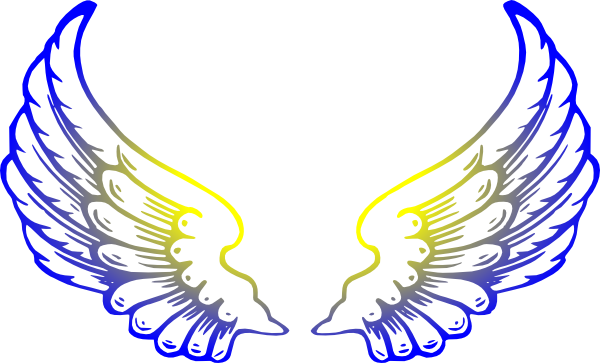 free angel wings with halo clip art - photo #14