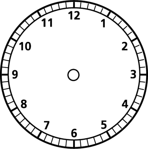 Analog Clock Blank Face Coloring Pages: Analog Clock Blank ...