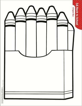 Impertinent image throughout printable crayons template