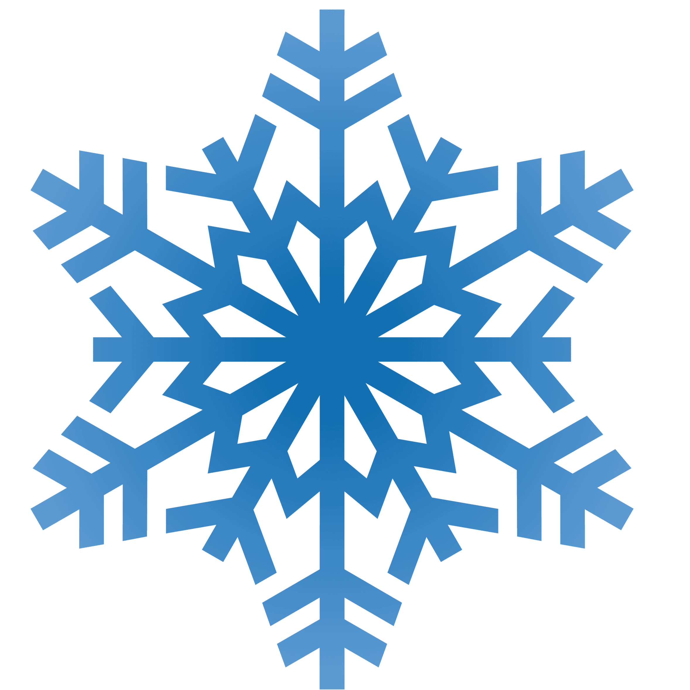 Winter Snowflakes Clipart - Free to use Clip Art Resource