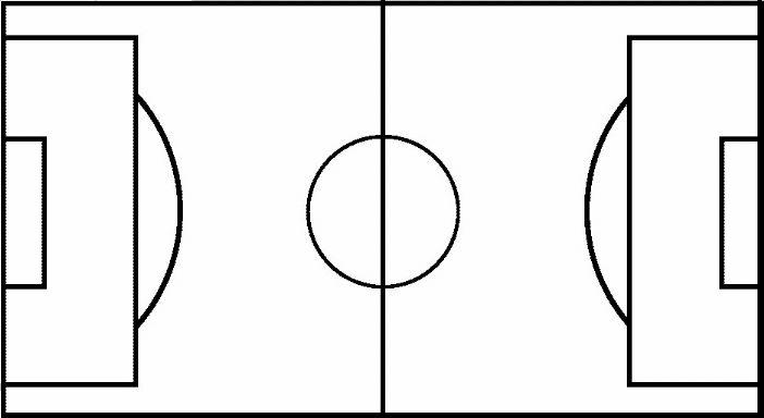 blank football field template - blank football pitch outline clipart best