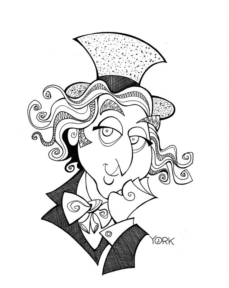 free willy wonka coloring pages - photo#22