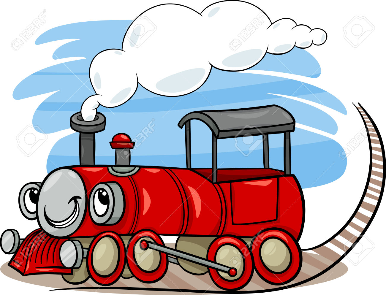 Cartoon railway clipart best