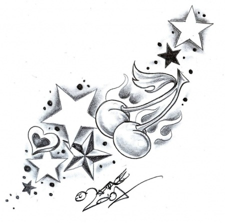 Heart Tattoo Designs With Stars Tattoo Designs Stars And