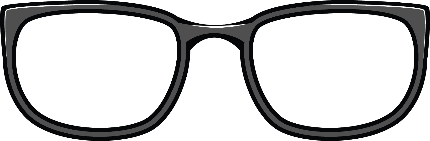 Glasses Frame Black And White : Clipart Eyeglasses Png - ClipArt Best
