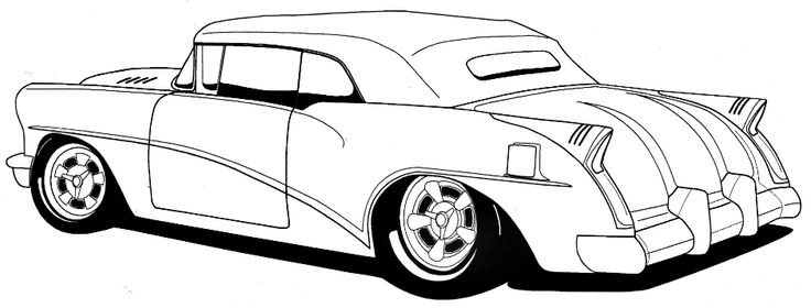 Line Art Car : Classic muscle drawing clipart best