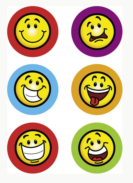 100 Goofy Smiley Face Stickers Rewards Party Favors ...