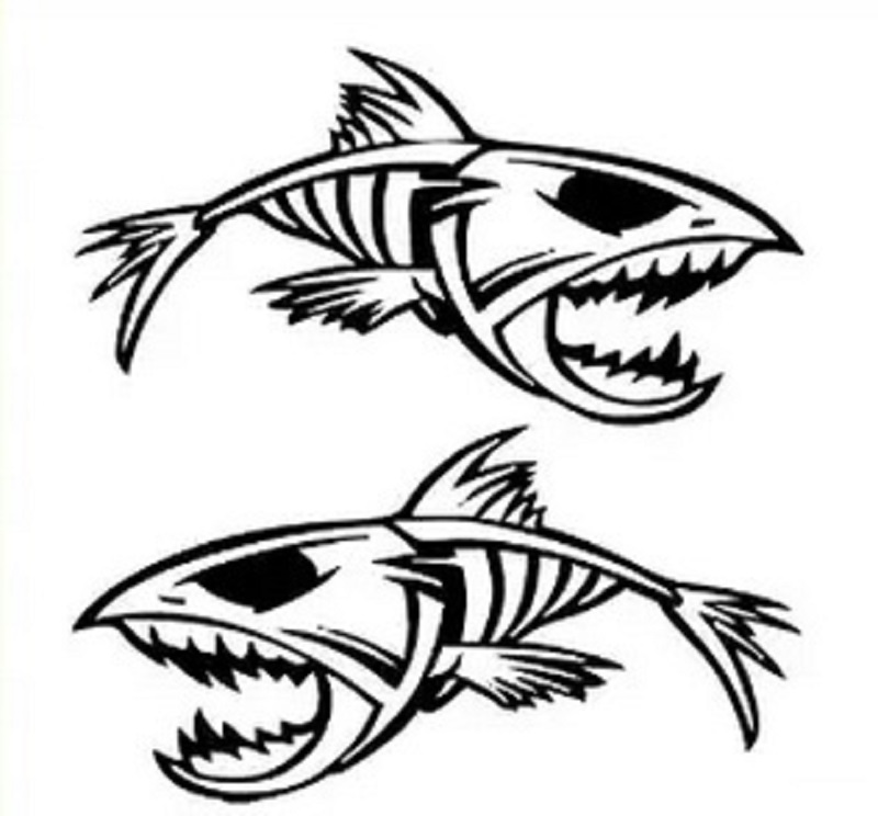Fish skeleton pictures clipart best for Fish skeleton decal