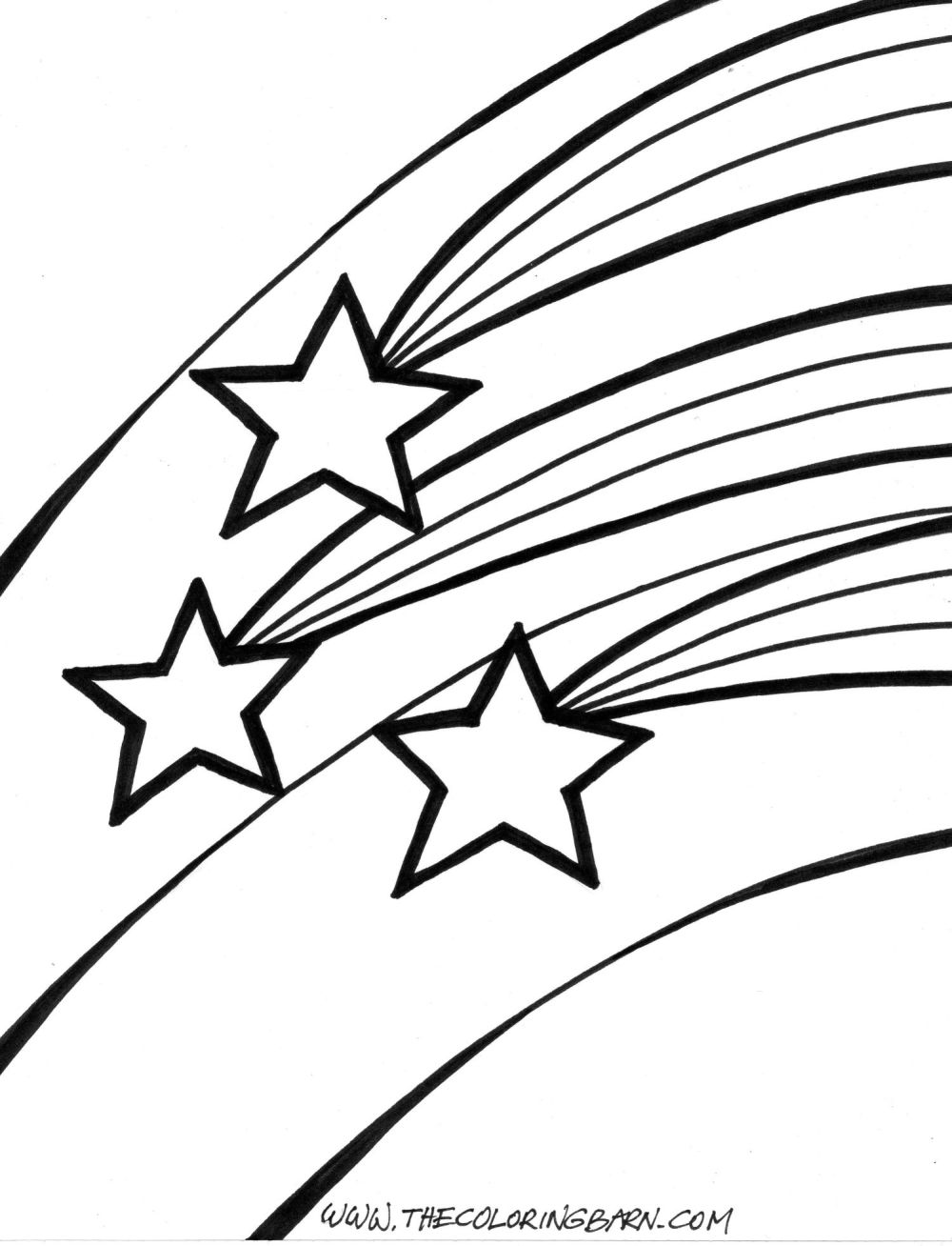 Line Drawing Star : Shooting star line drawing clipart best