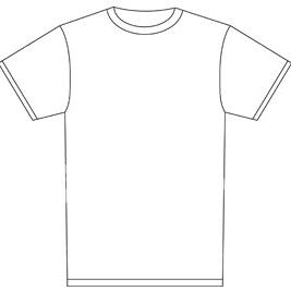 Blank tee shirt templates clipart best for Blank t shirt design template