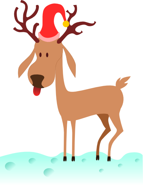 Cartoon Reindeer clip art - vector clip art online, royalty free ...