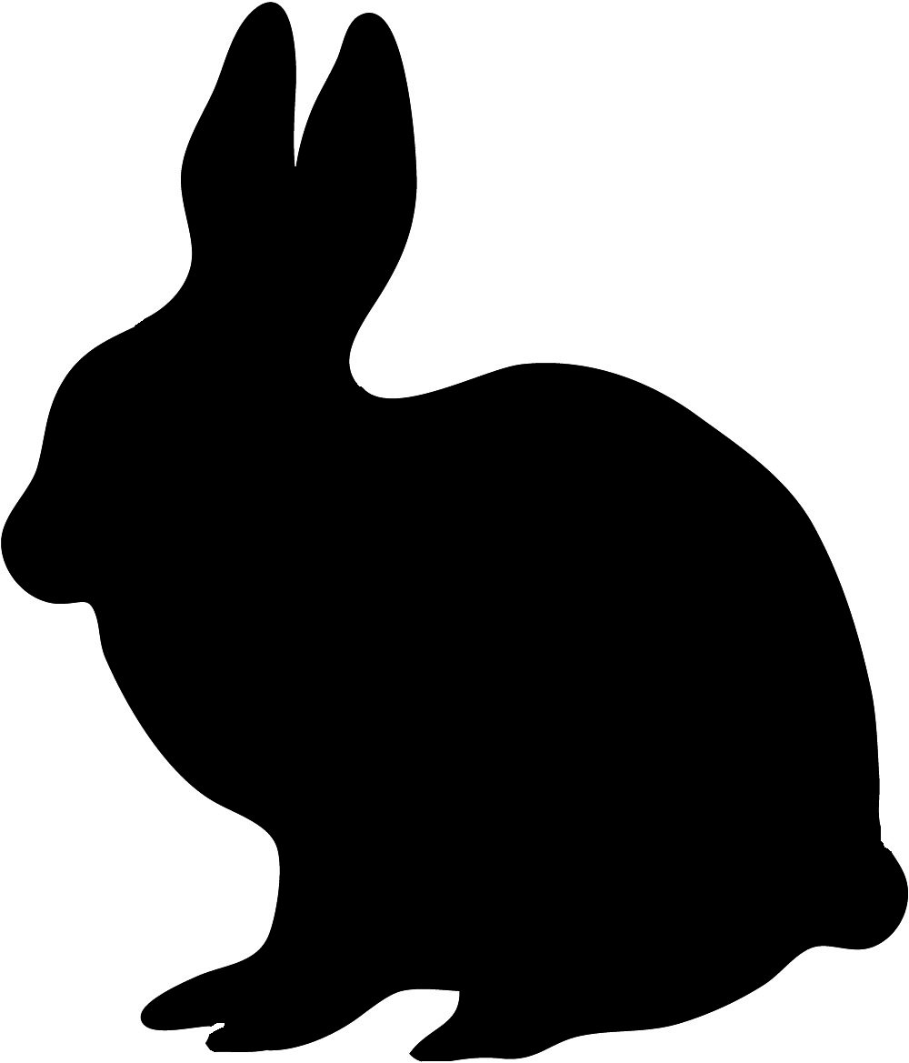clipart image bunny silhouette - photo #7