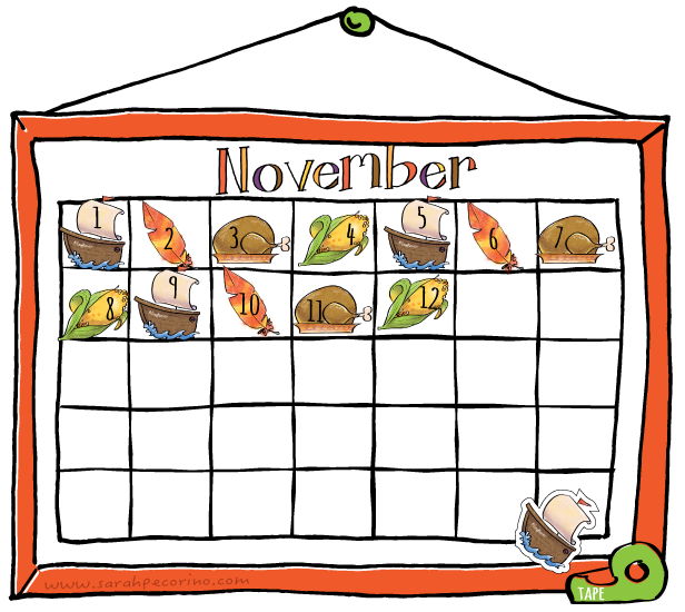 Sarah Pecorino Illustration: Clip Art Set: November ...