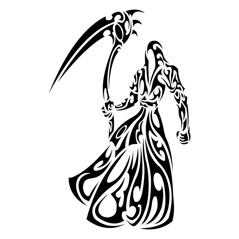 Tribal Grim Reaper Tattoo Designs - ClipArt Best