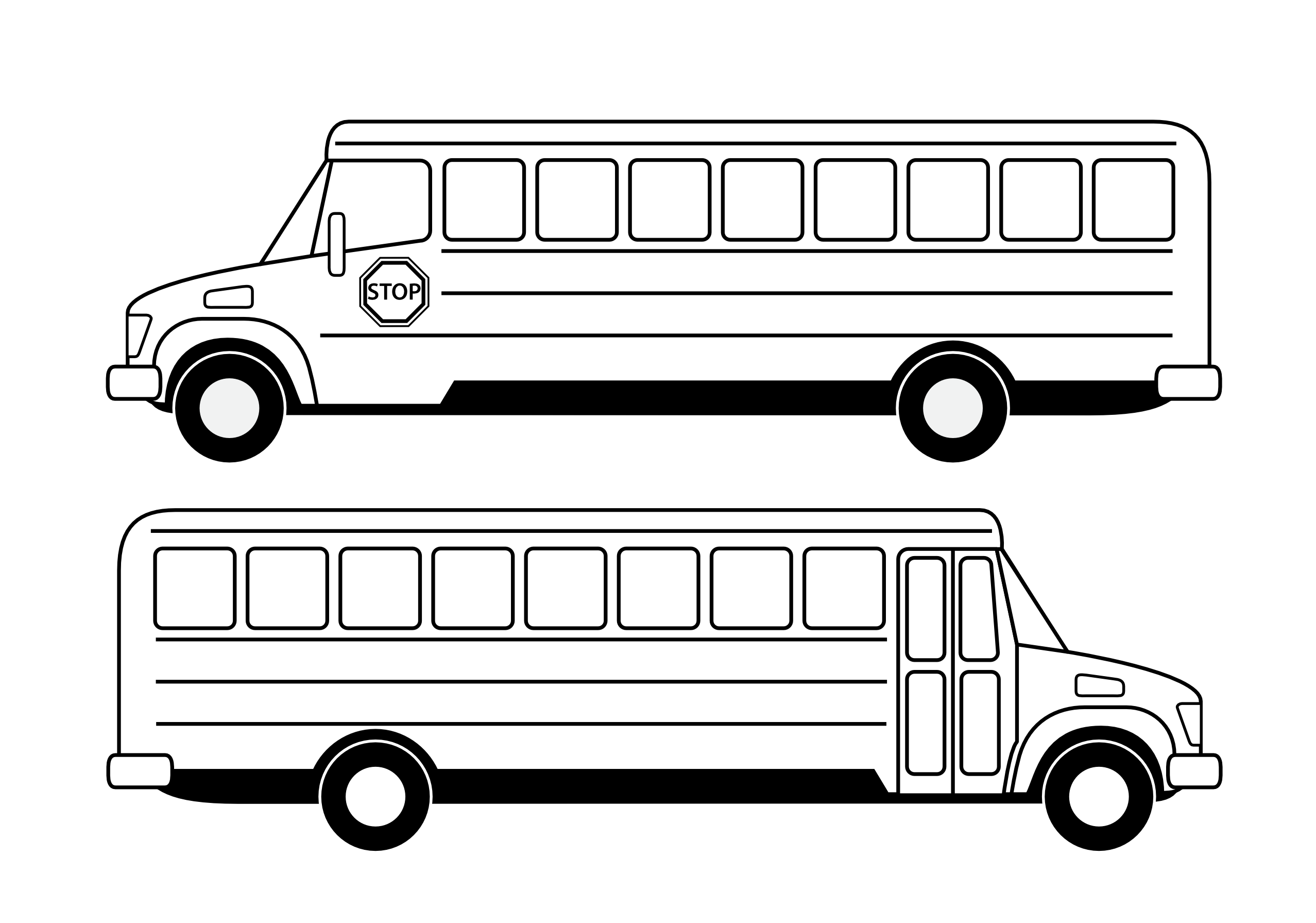 Line Drawing Bus : Bus clipart best