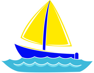 Free Sailing Clip Art Image - Sailboat Graphic Icon on a Lake