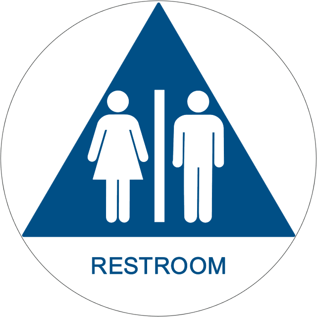 Restroom Clipart: Unisex Bathroom Signs
