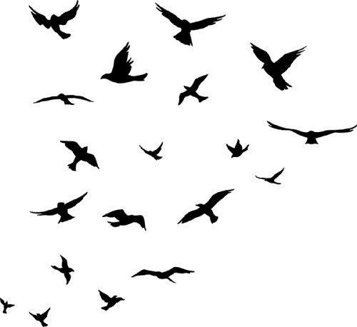Bird Silhouette Tattoo Design Clipart Best