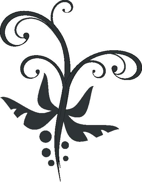 Swirls Vegetal clip art - vector clip art online, royalty free ...