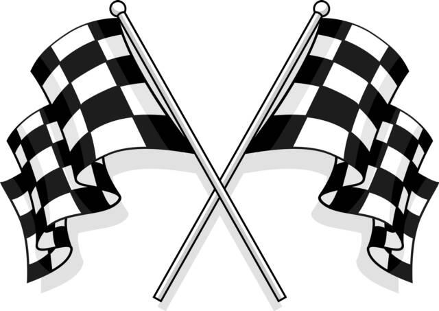 Race Start Clipart Start Racing Checkered Flag