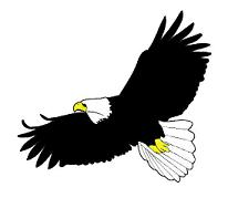 flying eagle clip art - photo #5