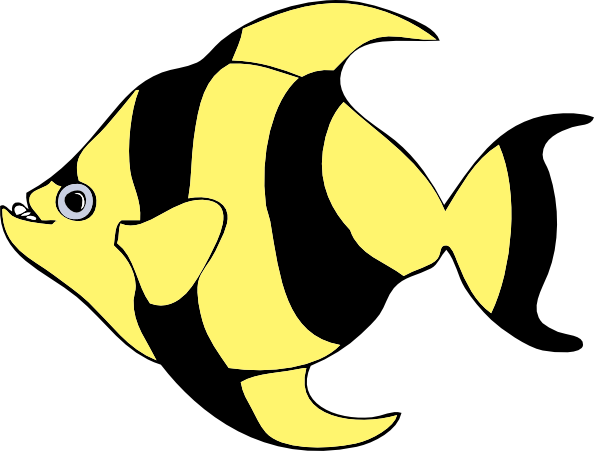 Striped Tropical Fish clip art - vector clip art online, royalty ...