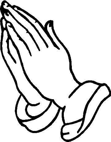 outline of praying hands clipart best