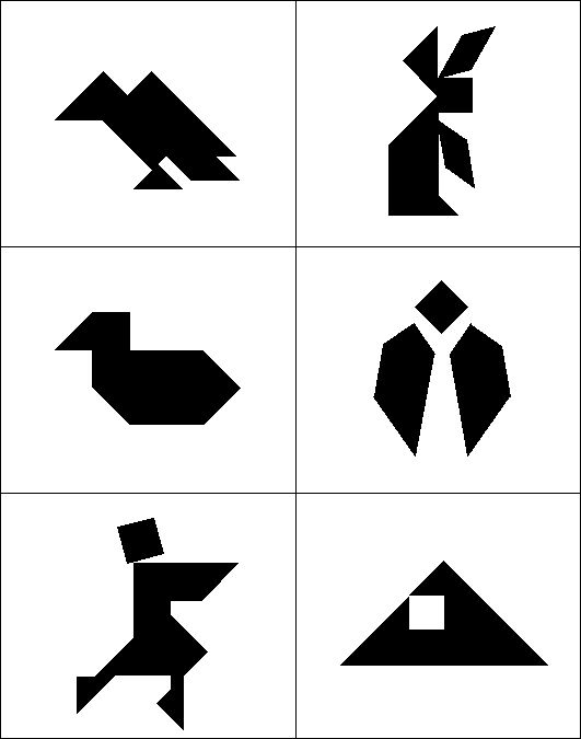 Canny image pertaining to printable tangram puzzle outlines