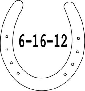 Double horseshoe template - photo#23