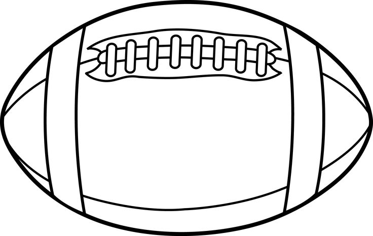football outline template football outline clipart clipart kid ...