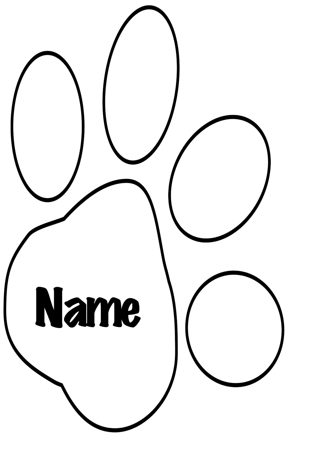 tiger paw template - white tiger paw print clipart best