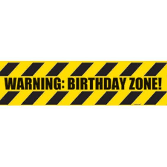 Caution Tape Birthday Cake