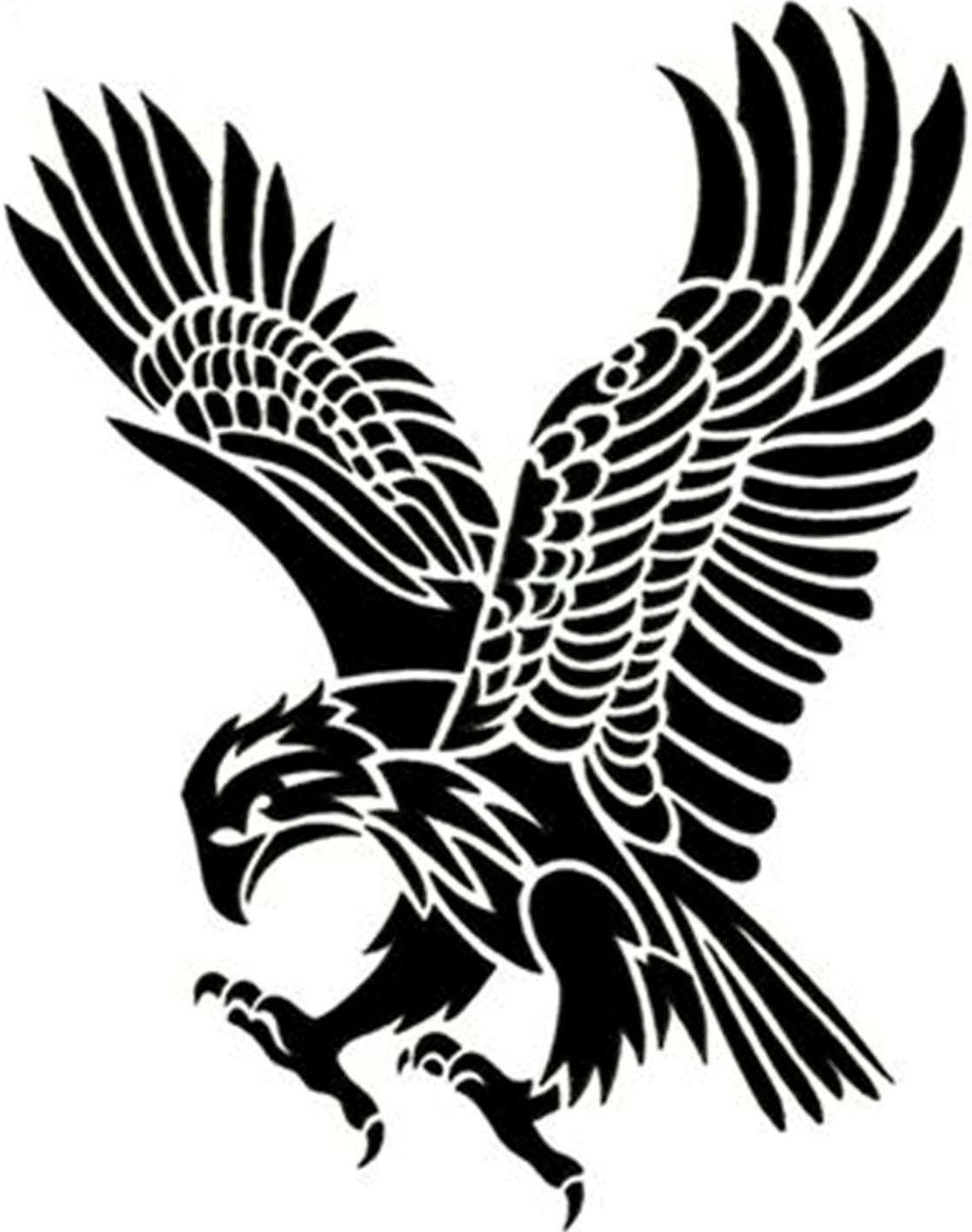 Tribal eagle clipart best for Tribal eagle tattoos
