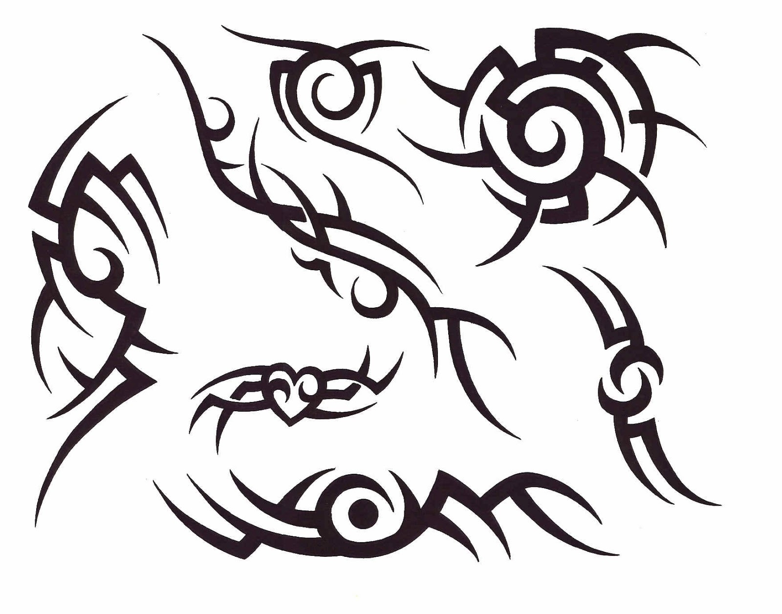 Tribal Tattoo Line Drawing : Tribal lines design clipart best
